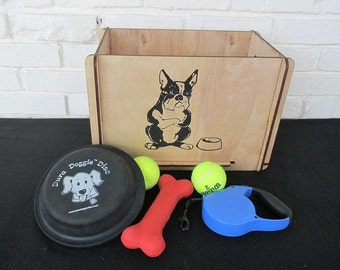 Dog Pet Toy Food Wooden Storage Box