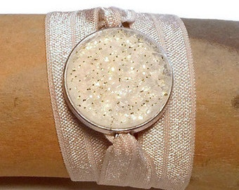 Aromatherapy Jewelry, Bracelet will hold Young Living and do Terra essential oil or any other brand.   Wrap Bracelet Taupe or Nude Color