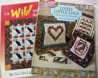 Lot 2 Books Quilting Sewing Patterns Instructional Paperback Book B823