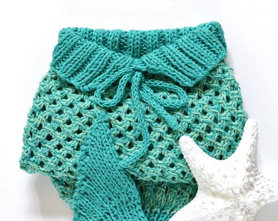 Mermaid Tail Blanket for Baby KNITTING PATTERN 5 Sizes, newborn-1 month, 2-6 ...