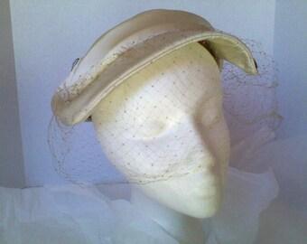 Martha Gene Vintage Cream Hat