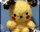 Crochet fleece pikachu Pokemon scruffy teddy