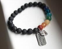 Chakra Balancing Bracelet, Jewlery, Yoga, Meditation, Reiki Charged, Chakra Bracelet, Tibetan Mala, Gemstone Bracelet, Energy bracelet