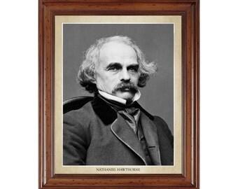Nathaniel Hawthorne portrait; 16x20 print on premium heavy photo paper