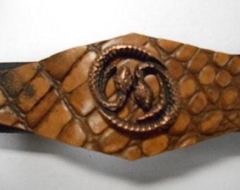 snake cuff, faux alligator cuff, leather cuff, faux leather cuff, leather bracelet, snake bracelet, faux leather bracelet, cuff bracelet