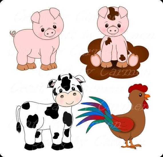 Farm animals , farm clip art, cute animals, barn,fruit ...