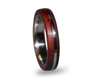Titanium Ring, Womens Titanium Wedding Band, Wedding Ring, Wooden, Wood Ring