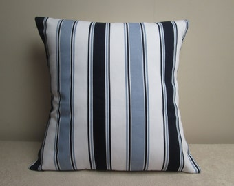 "Handmade Nautical Stripe Cushion Cover 16"""