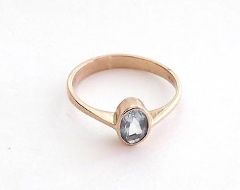 Aquamarine Ring in Rose Gold