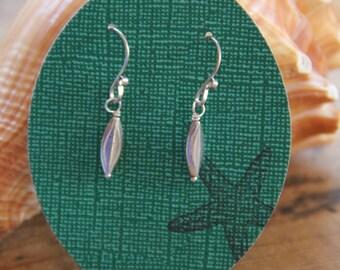 Sterling silver earrings, drop sterling earrings