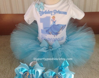 Princess Cinderella Tutu-Cinderella Tutu Set-Cinderella Outfit-Cinderella Birthday Outfit Set-Fisrt birthday outfit,Cinderella 1st birthday