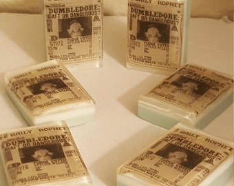 Harry Potter Soap - Harry Potter Gift - Dumbledore Soap - Daily Prophet Soap