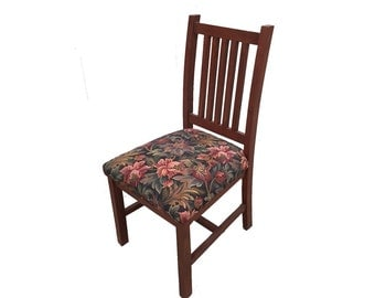 Mission Side Chair with original upholstery - shabby chic chair - original chair