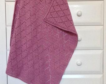 Crochet Diamonds - Fillet Crochet - Crochet Baby Blanket - Carnation
