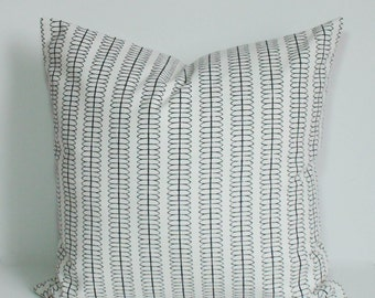 Pillow cover, Throw pillow, Decorative pillow, Black and white pillow, Couch cushion, Sham, 16x16, 18x18, 20x20, 22x22, 24x24, 26x26
