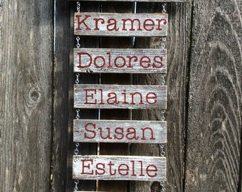 They Stole my Heart Custom Name Sign. Rustic Family Names