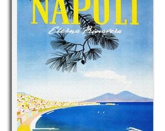 Art Naples Italy Travel Poster Wall Italian Decor Print Gift  xr549