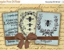 80 % off SaLe Vintage French Ephemera Shabby Chic Tags Jewelry Holders Digital Collage Sheet Decoupage Labels Vintage Ephemera ATC Cards ACE