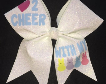 Love to cheer with my Peeps Cheer Bow
