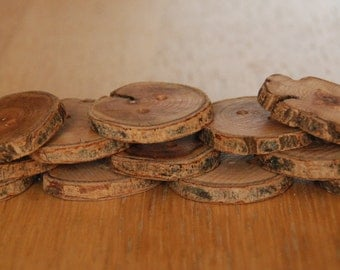 12 Handmade Wooden Buttons 35mm Tree Branch Buttons Sewing Knitting Craft