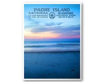 Padre Island National Seashore Travel Poster