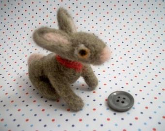 Needle Felted Bunny, Handmade Rabbit, Wool Animal