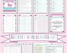 Activity Days Starter Kit - Instant Download