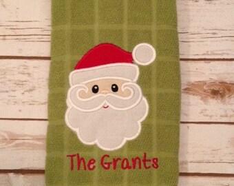 Personalized Santa Christmas Towels