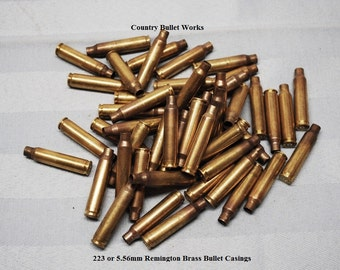 223 or 5.56mm Rifle Brass Bullet Casings - BW12.3-BW11.3 - Huge Lot Of 50 - Perfect For All Kinds Of Crafting