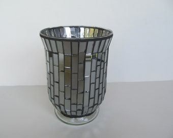Candle Holder - Hurricane - Mosaic - Glass Candle Holder- or flower  vase