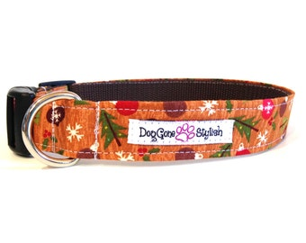 No Stink Washable Holiday Christmas Trees Dog Collar