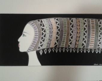 SALE: Medieval I & II.  A pair of mixed media drawings.