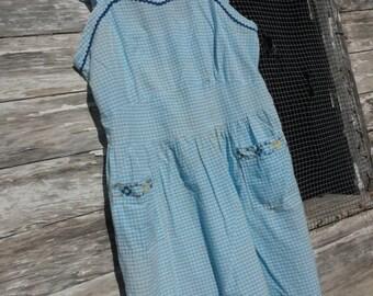 Vintage Pinafore Apron Dress