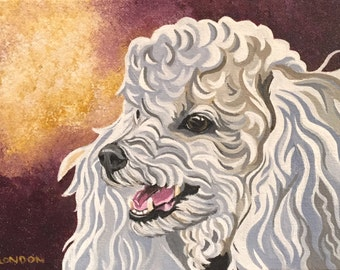 Note Cards - White Poodle