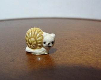 Vintage Miniature Ceramic Snail Figurine