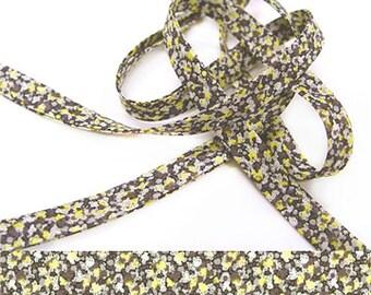Pepper W Liberty fabric bias binding, 1x Yard Pepper W - 10mm wide, Liberty fabric UK, bracelet making and sewing supplies