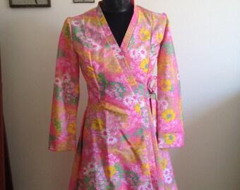 60s Pink Mod Dress Italian
