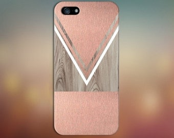 Scratched Rose Gold Wood Phone Case,  iPhone 7, iPhone 7 Plus, Protective iPhone Case, Galaxy s8, Samsung Galaxy Case Note 5, CASE ESCAPE
