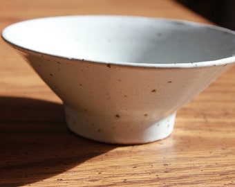 Small White Bowl with Ribbed Interior
