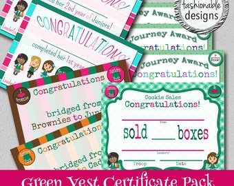Junior Style Certificates Pack - Instant Download - Print Your Own