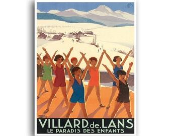 France Travel Poster Swimming Art Vintage Print (H406)