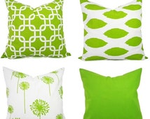 Unique Lime Green Cushion Related Items Etsy