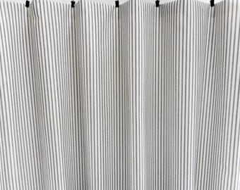 Black & White Stripe Window curtain. Classic stripe Panels. Black and white Stripe  Cotton.unlined.Designers pattern.Choose sizes