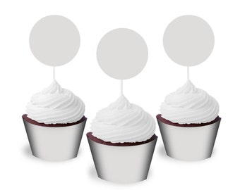 Digital Photo Template for cupcake toppers and wrappers. 1 inch round setting for toppers. Instruction included. Shop Listing Picture. 1199