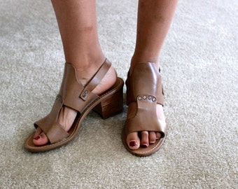 Vintage Handmade Leather Italian Sandals