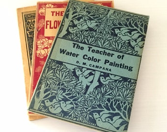 Individual Vintage Paperback Art Books, Each Sold Separately -Beautiful Wedding Decoration, Shower Decor, Book Collector, Artist, Gift