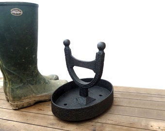 Boot Scraper, Vintage Cast Iron Boot Scraper, Decorative Bootscraper, Boot Cleaner, Porch Decor, Wellington Boots Cleaner, Boot Accessories