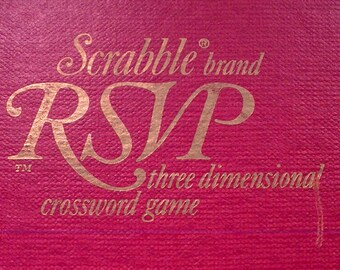 Scrabble RSVP, 1960s 3D Scrabble, RSVP Board Game, Scrabble Brand Board Game, Scrabble Crossword, Family Games, Retro Board Games, Crossword