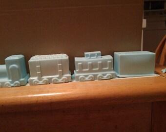 Set of Four Soaps Bars - Train