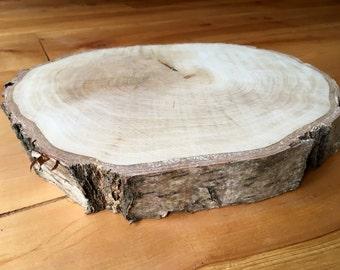 Wood cake stand centerpiece slab 33cm